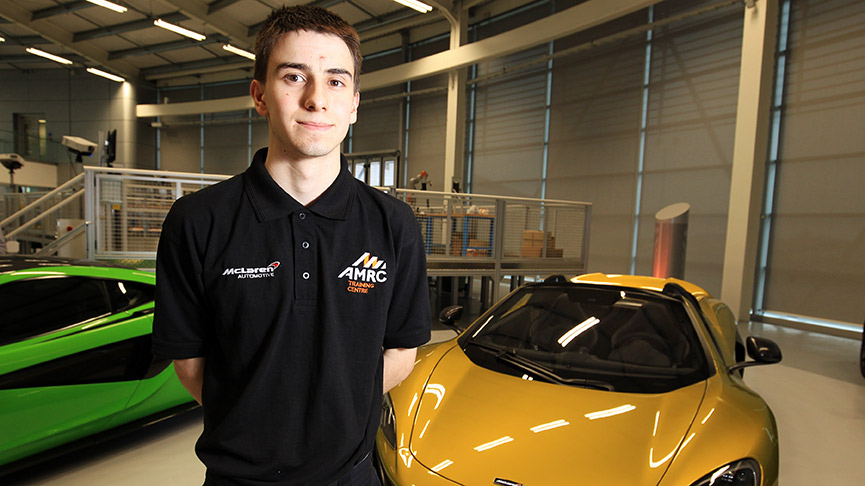 Ian Hutchinson – the first McLaren apprentice at the University of Sheffield's AMRC Training Centre