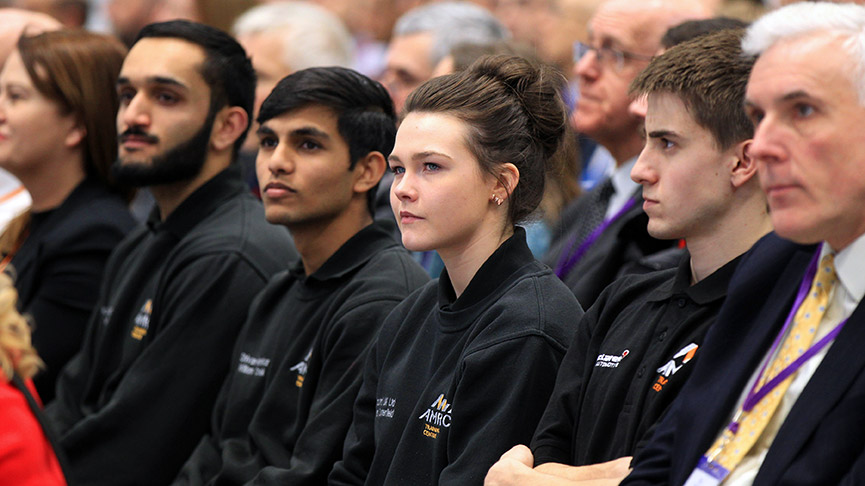 Apprentices at the McLaren launch event