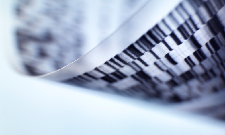 A stock image of the genome sequence