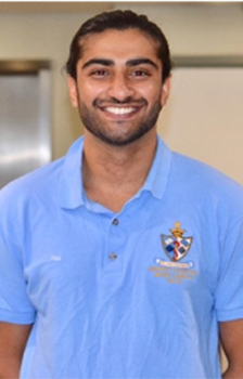 A photograph of medical student Hasnain Khan
