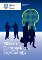 MSc in Occupational Psychology Brochure