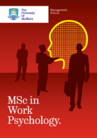 MSc in Work Psychology Brochure