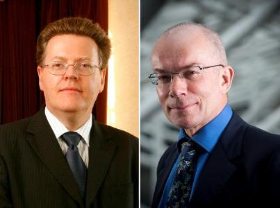 The Vice-Chancellors (L-R: Professor Keith Burnett and Professor Philip Jones)
