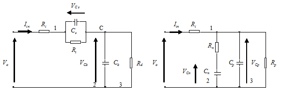 Randles' battery model and its mapped equivalent circuit
