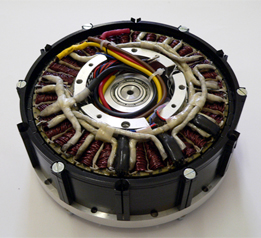 Internal view of prototype 300W external rotor motor