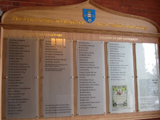 Benefactors Board In Firth Court