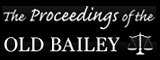 The Old Bailey Online banner.