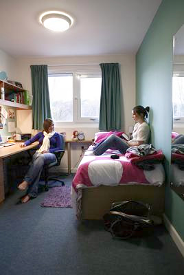 Students in study bedroom