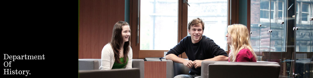 Image: three students inside Jessop West at a desk