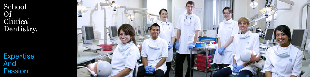 Image: large group of students with dentistry equipment