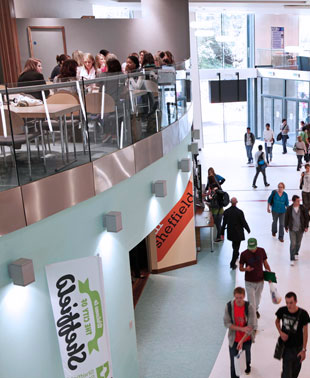 Image: inside Sheffield Students' Union