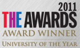 THE Awards University of the Year Winner 2011