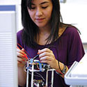 Image: student in lab
