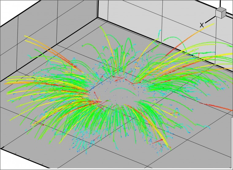 Penetration simulation with 3-dimensional trajectories