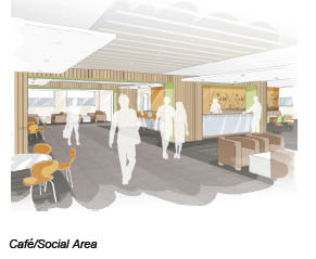 Architect's impression of the new café/social area
