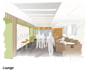 Architect's impression of the new lounge