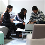 Students in a study area