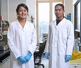 Image: two bioengineering students