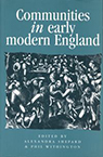 Phil Withington Communities in Early Modern England book cover