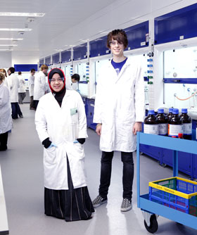 Image: two chemistry students