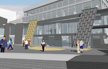 Artists' impressions of what University House will look like