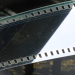 Camera film in close up
