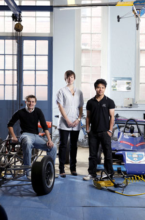 Image: group of Sheffield mechanical engineering undergraduates