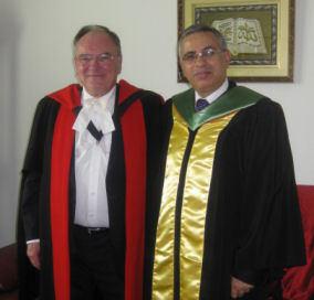 Profs Fowler and Saadoun at graduation