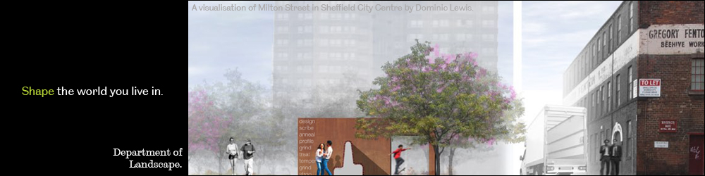 A visualisation of Milton Streen in sheffield city centre dom lewis