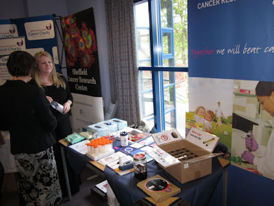 CR-UK Stand at a Trust Members event