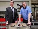 Dr Alan McLelland (left), CEO of NAMTEC and Professor Keith Ridgway, co-founder of the AMRC