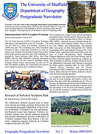 Postgraduate Newsletter Spring 2010