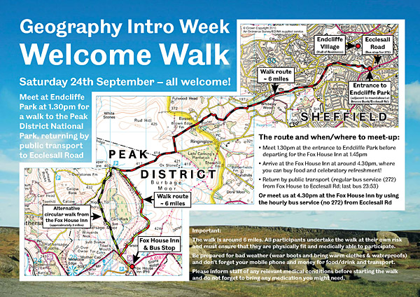 Geography Intro Week Welcome Walk Poster (PDF)