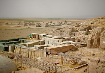 Excavation site at Tell Mozan