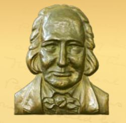 Bronze bust of Hunter