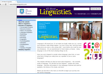 Screenshot of AllAboutLinguistics.com