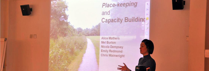 Alice Mathers Presenting at the last Place-making conference