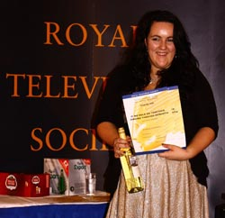 Tasha Hawker with her award