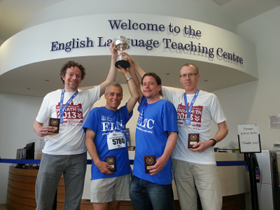 ELTC Half MArathon Team winners