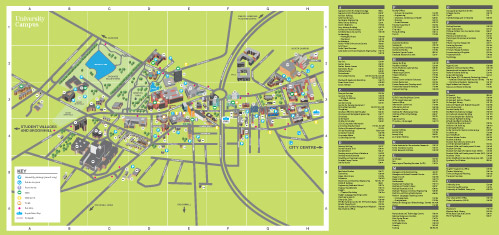 Campus map and index