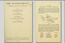 Cover and page from 'The Invertebrata'