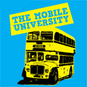 Blue graphic: mobile university