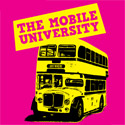Pink graphic: mobile university
