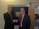 Professor Sir Keith Burnett and Professor Iain WIlkinson unveiling the plaque