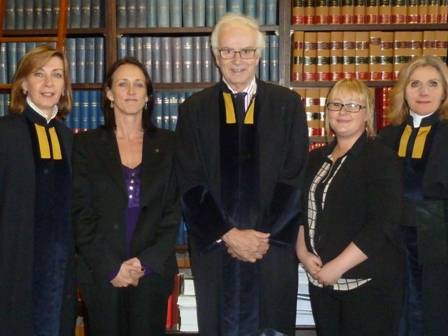 Court Appeal Judges, Professor McGourlay and student