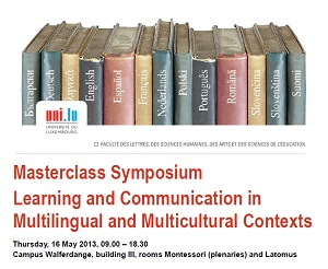 Poster from the Masterclass Symposium
