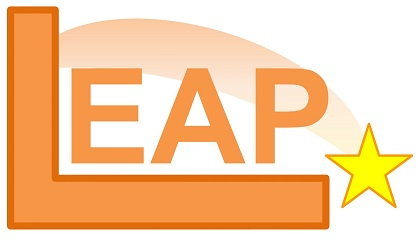 LEAP logo with yellow star