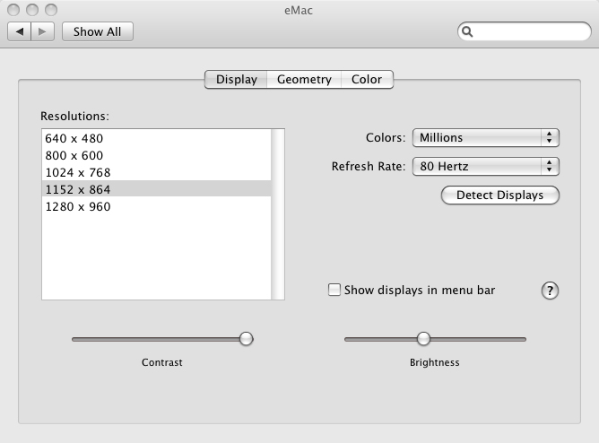 Mac display options picture