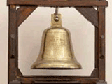 big brass bell in the Halifax building