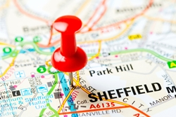 Map of Sheffield 250x167